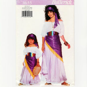 Gypsy Woman and Girl Costume-Sewing Pattern-Blouse